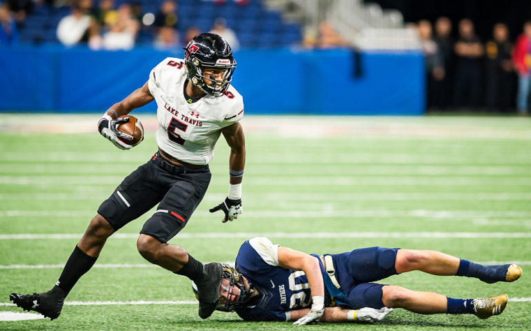 High School Football: OK3Sports coverage of the Class 6A Div. I State quarterfinals featuring O'Connor Panthers and the Lake Travis Cavaliers on Saturday, December 09, 2017 at Alamodome in San Antonio, TX. Photo: OK3Sports/Luke Kelley