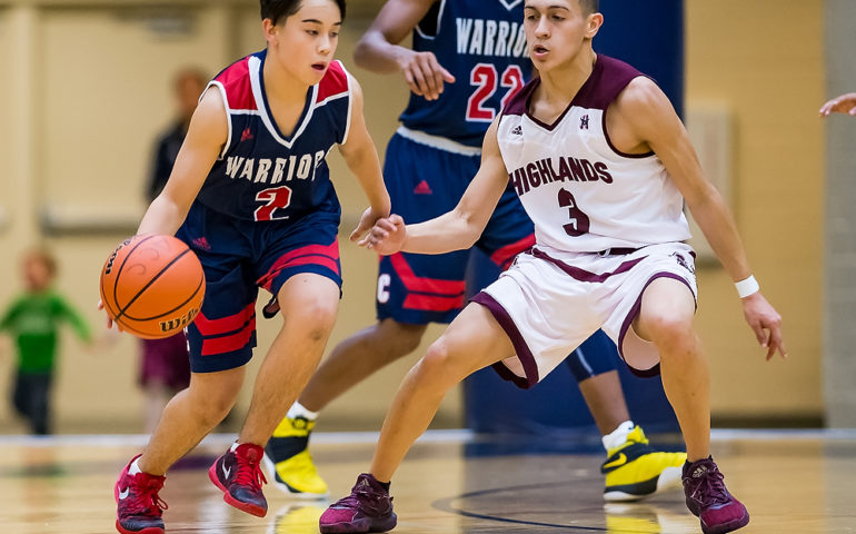 SAISD Tournament basketball game featuring Cornerstone Christian Warriors and the Highlands Owls on Thursday, December 07, 2017 at Alamo Convocation Center in San Antonio, TX.